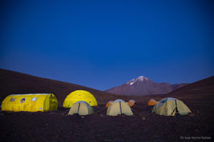 LLULLAILLACO VOLCANO BASE CAMP IN SALTA